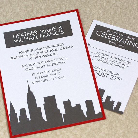 New york city destination wedding invitations a central for Wedding invitation companies nyc
