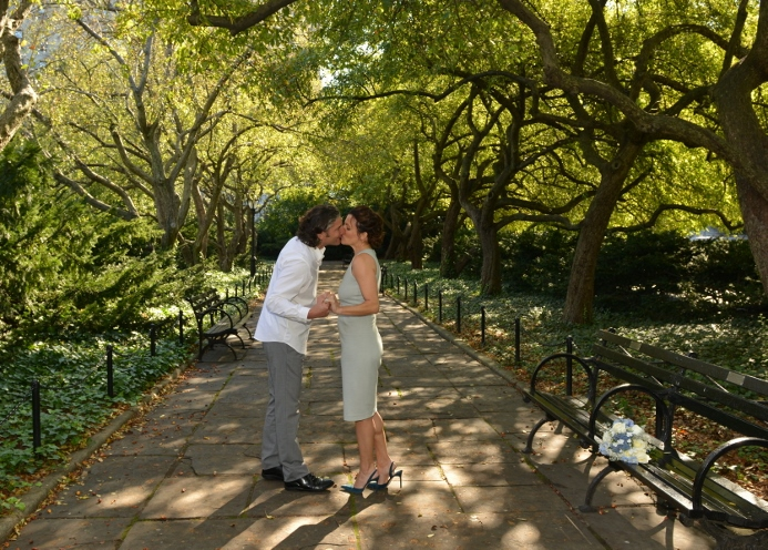 Wedding at the Conservatory Garden Wisteria Pergola