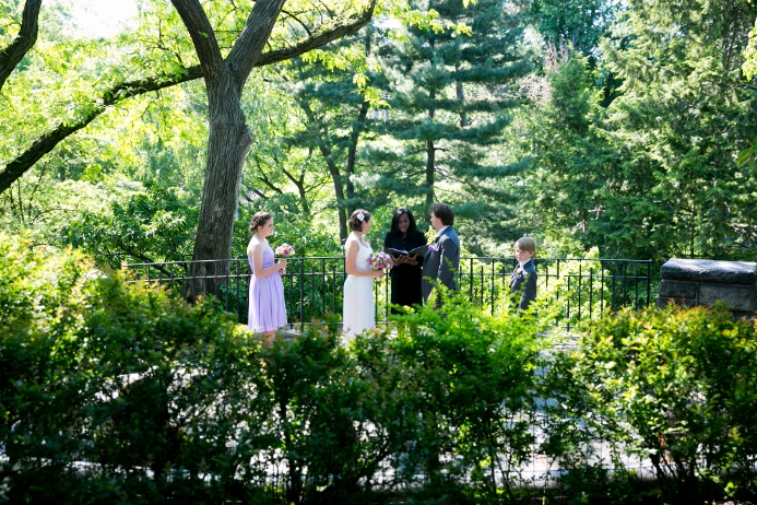 Wedding Ceremony At Shakespeare Garden Central Park