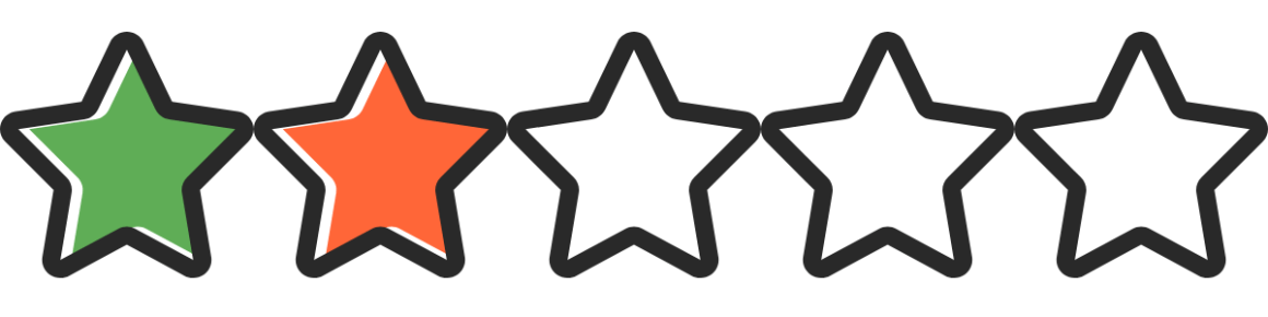Two Star Rating