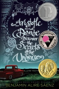 Cover of Aristotle and Dante Discover The Secrets of The Universe by Benjamin Alire Sáenz