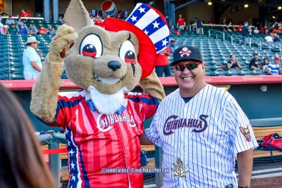 Manager for the Day Manuel Chavez III at Reno Aces Vs El Paso Chihuahuas, Independence Day Celebration
