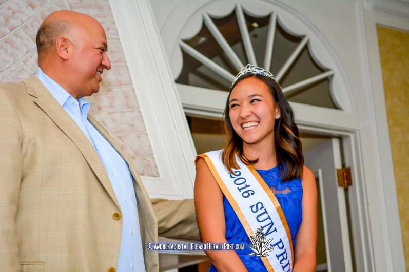 2016 Sun Bowl President Steve Beltran and Sun Princess Claire Lazo Kim at the 2016 Sun Court Coronation at the El Paso Country Club