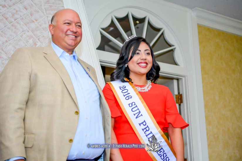 2016 Sun Bowl President Steve Beltran and Sun Princess Lauren Pena at the 2016 Sun Court Coronation at the El Paso Country Club