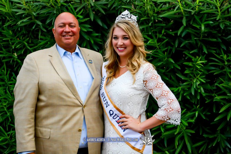 Sun Bowl President Steve Beltran and Sun Queen Katherine Carroll-Miller at the 2016 Sun Court Coronation at the El Paso Country Club