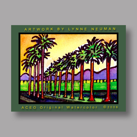 Signed ACEO *Palm Springs #334* by Lynne Neuman