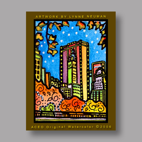 Signed ACEO Print *Central Park NY #680* by Lynne Neuman