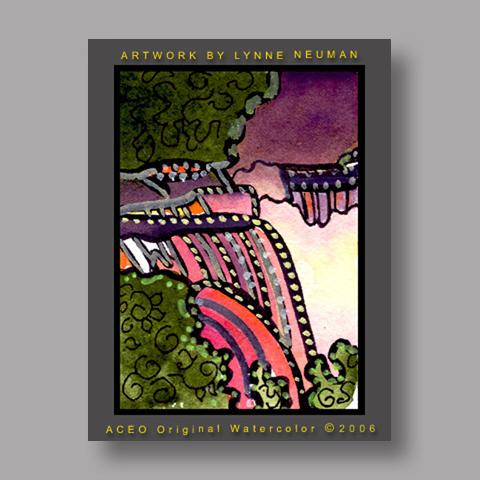 Signed ACEO Print *Niagara Falls New York #880* by Lynne Neuman