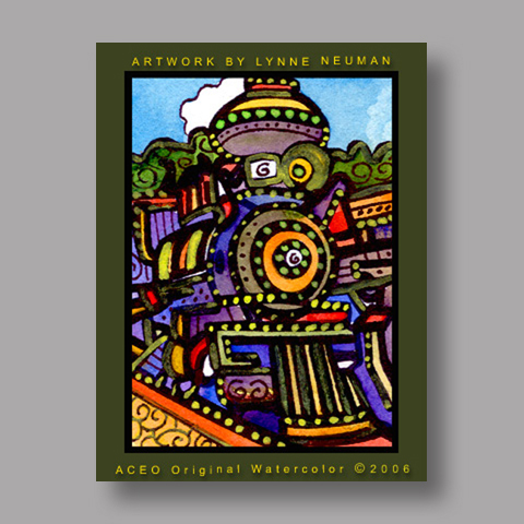 Signed ACEO Print *Train #884* by Lynne Neuman