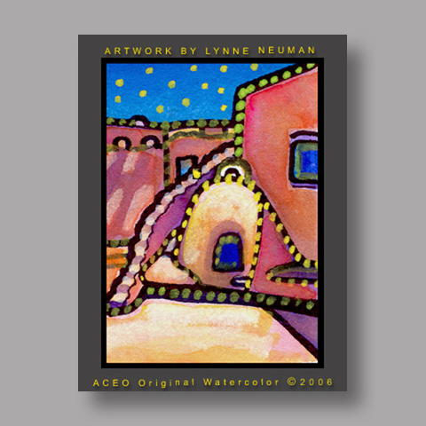 Signed ACEO *New Mexico #1135* by Lynne Neuman