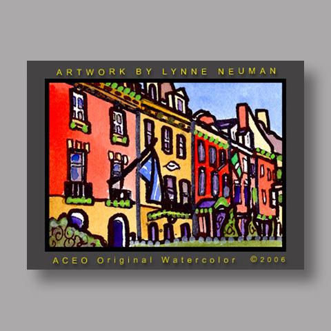 Signed ACEO Print *Embassy Row Washington DC #1198* by Lynne Neuman