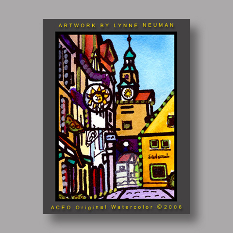 Signed ACEO Print *Rothenberg Germany #1201* by Lynne Neuman