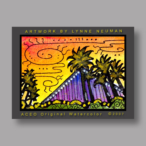 Signed ACEO *Las Vegas #1608* by Lynne Neuman