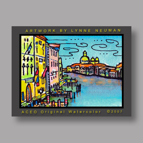Signed ACEO *Venice Italy #1627* by Lynne Neuman