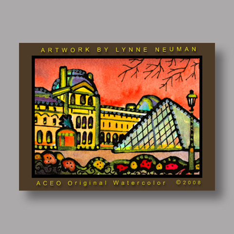 Signed ACEO *Louvre Paris France #1966* by Lynne Neuman