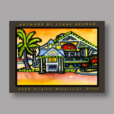 Signed ACEO Print *Flagler Station Key West #2522* by Lynne Neuman