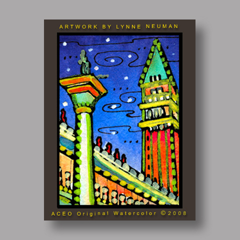 Signed ACEO Print *Venice Italy #2651* by Lynne Neuman