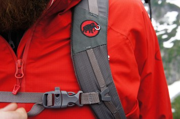 Photo: Monica Lauw. Clip in sternum strap adjustable for height and tension.