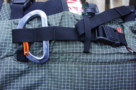 Detail of what the webbing on the ruck sack is supposed to look like.