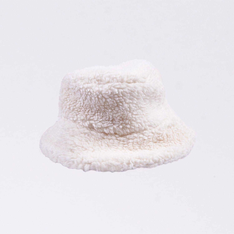 Acephala Fw20 Cotton Fur Bucket Hat Warm