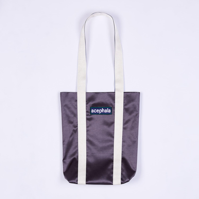 Acephala Fw20 Green Tote Bag With Logo