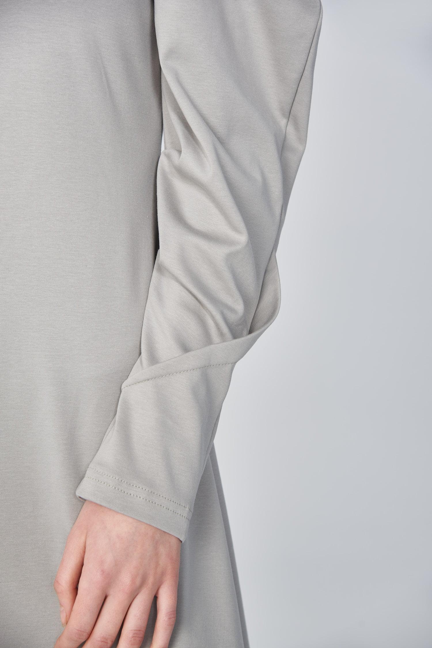 Acephala Ss21 Mini Dress With Draped Sleeves Sleeve Detail