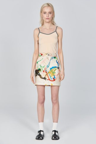 Acephala Ss21 Printed Mini Skirt Front 2