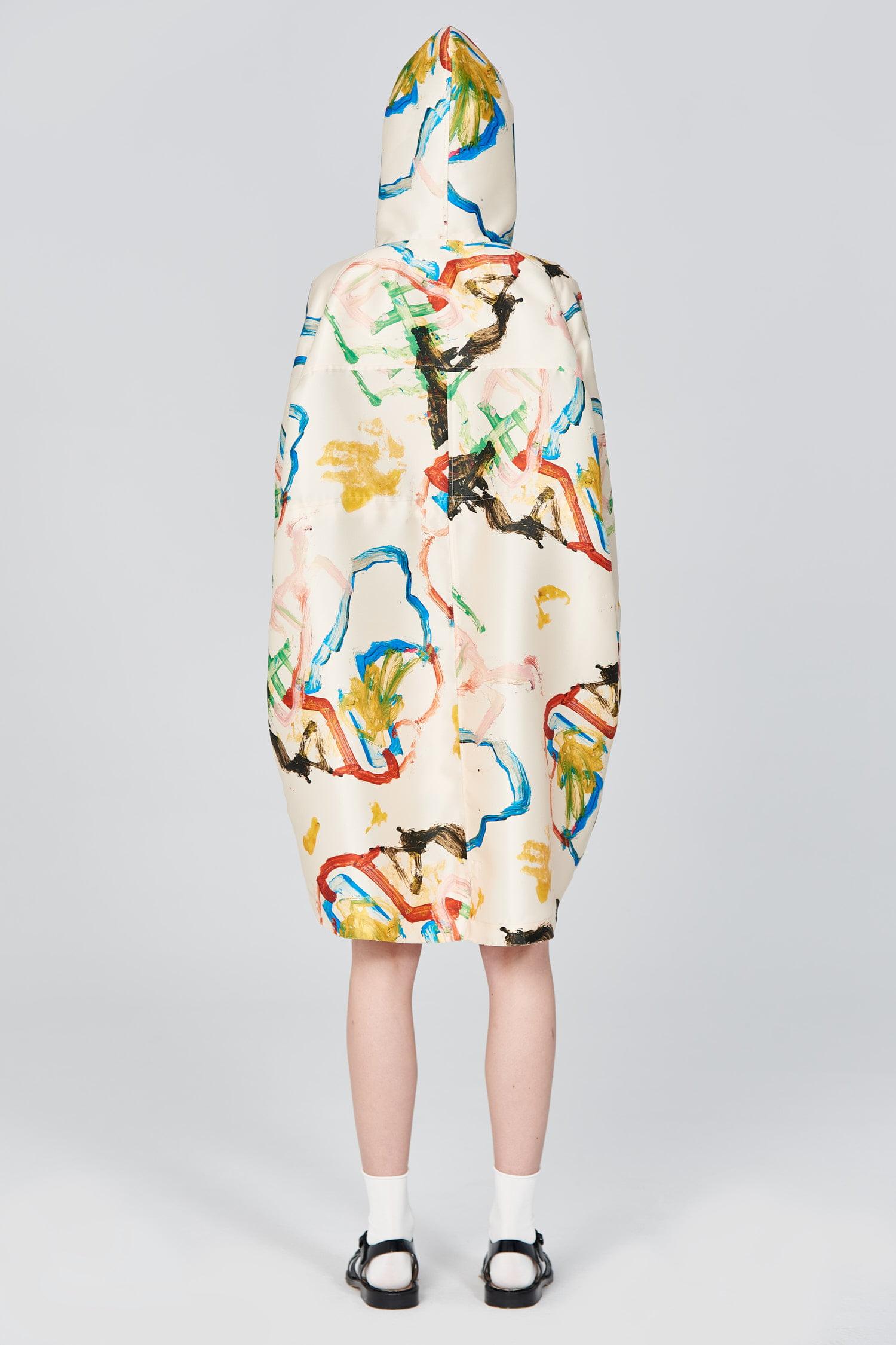 Acephala Ss21 Printed Parka Coat Back