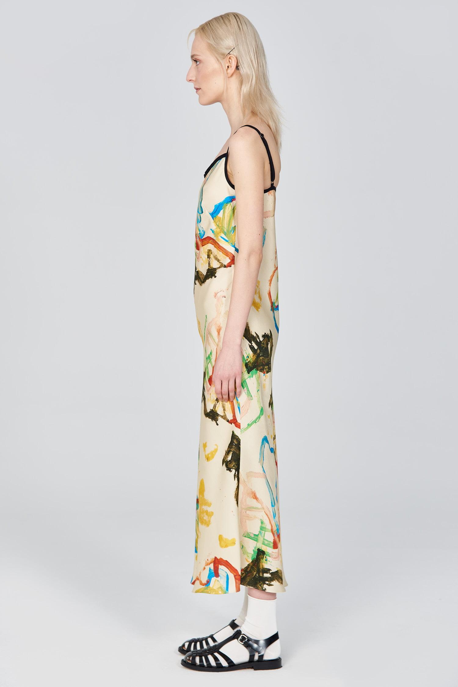 Acephala Ss21 Printed Slip Dress Side