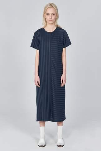 Acephala Ss21 Ribbed T Shirt Dress Front 2