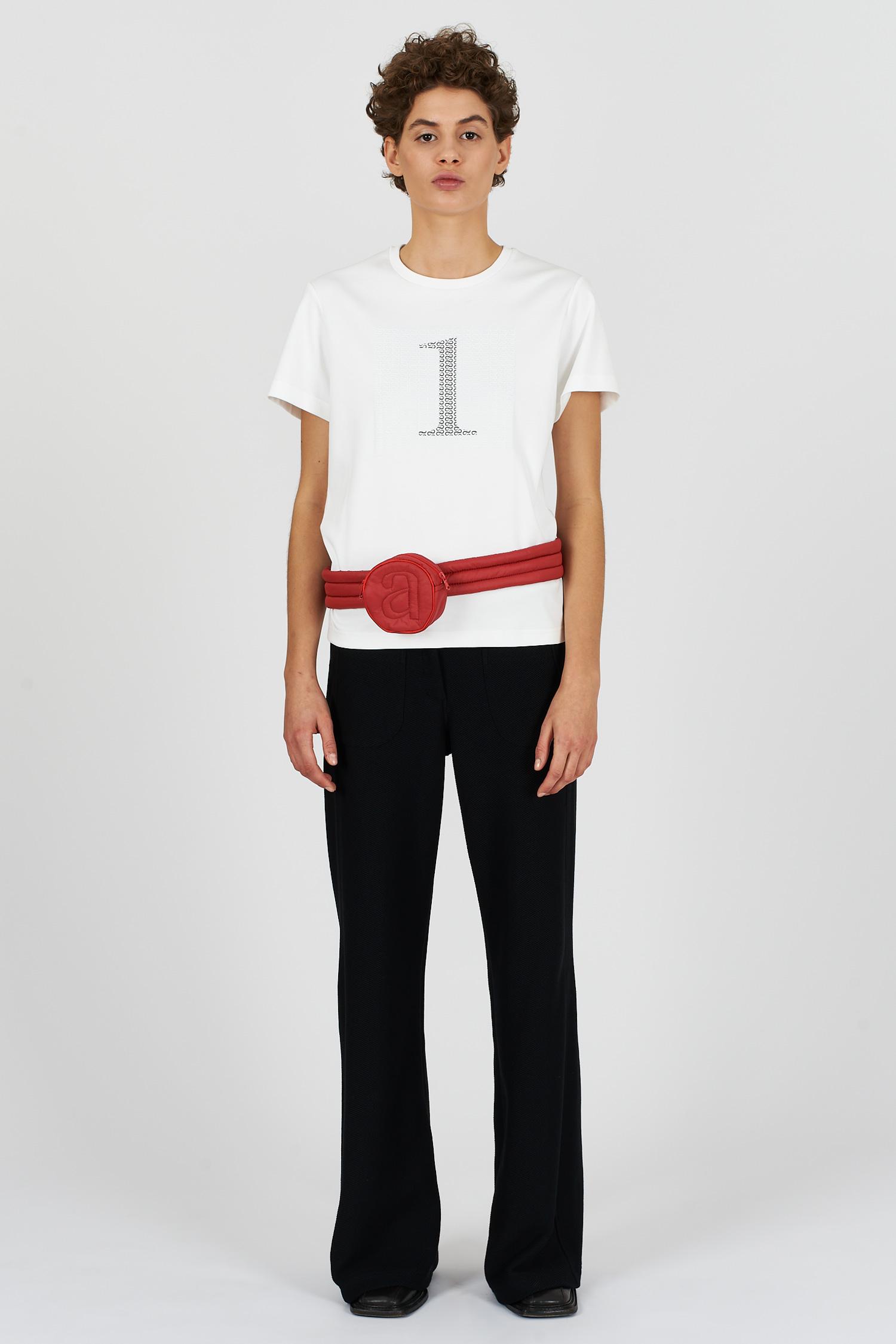 Acephala Fw2021 22 Infinity Print White T Shirt 03