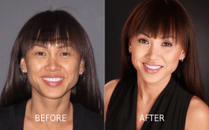Meili Makeup Before & After Sample