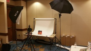 commercial product photography table