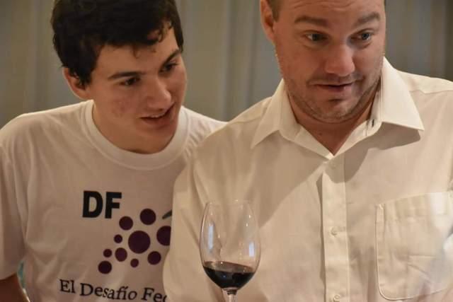Francisco Rivero Segura, organizador del Desafío Federal, y su hijo Franco, parte del staff