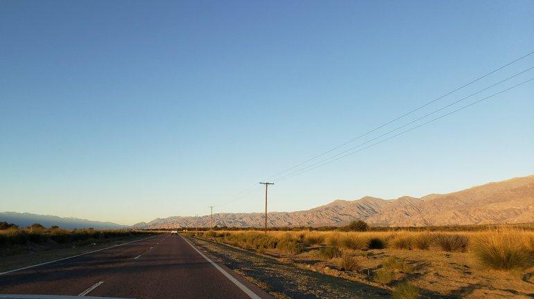 Ruta 40 rumbo a Chañar Punco