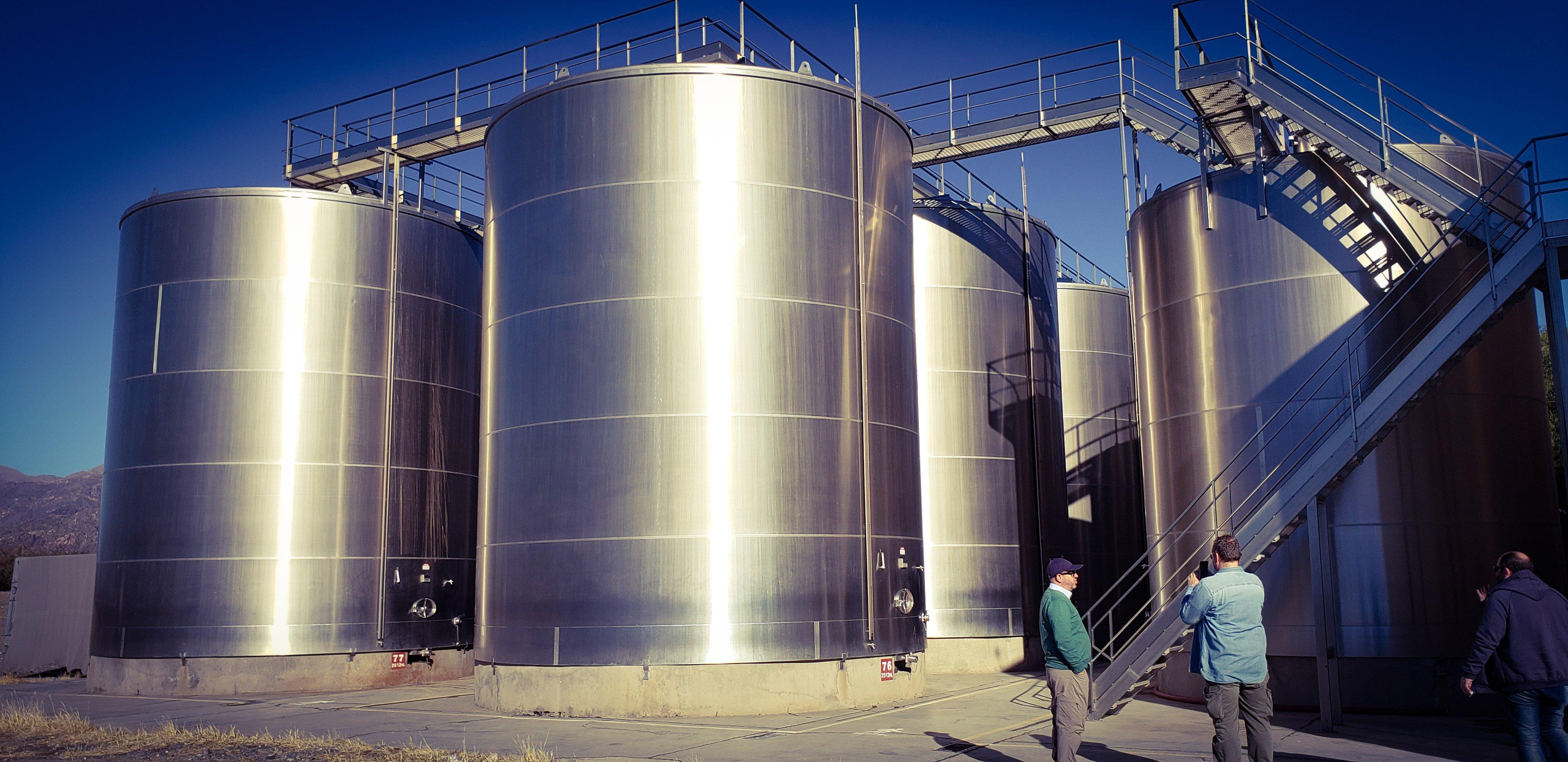 Tanques de alumino en Chañar Punco