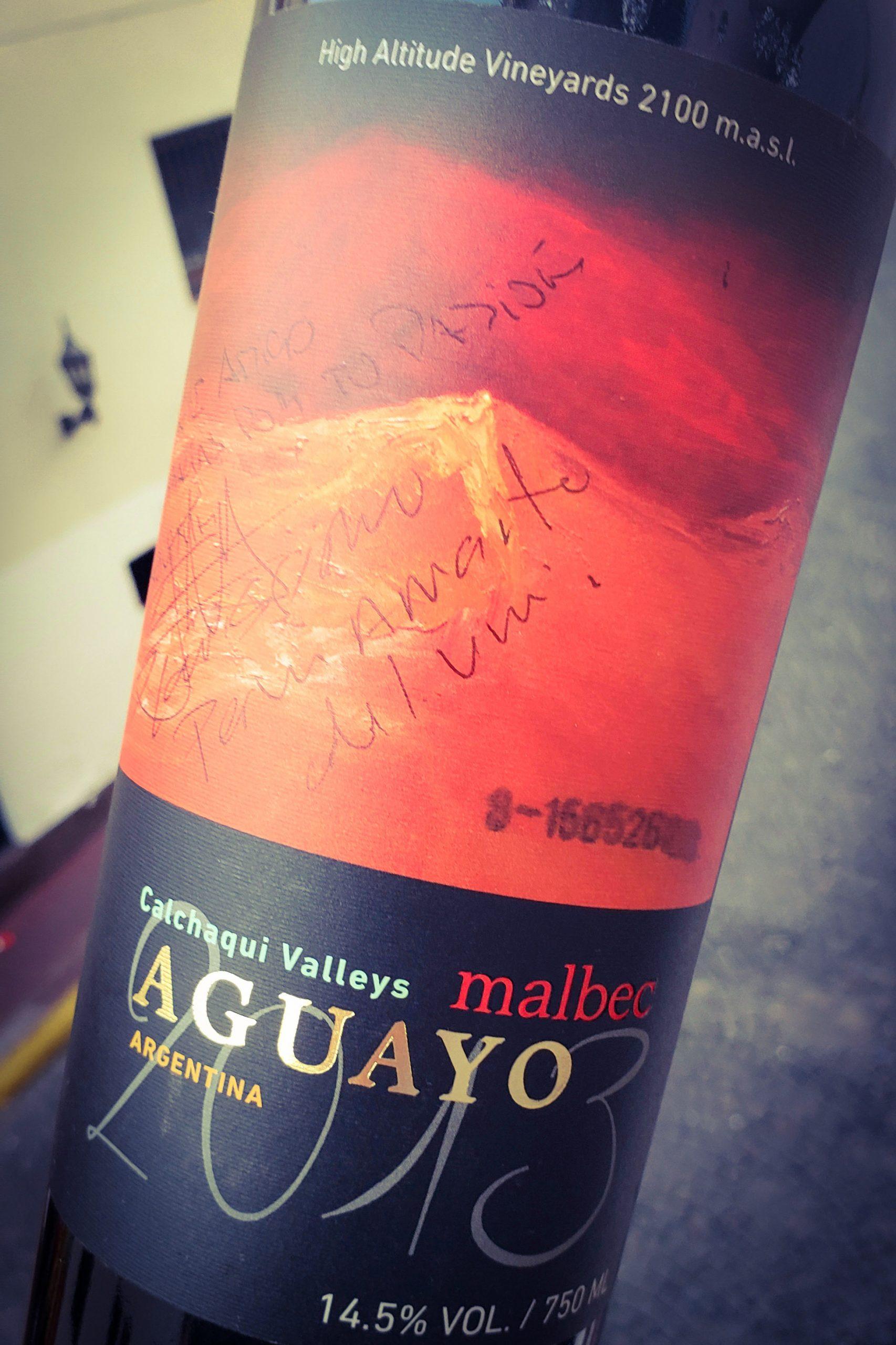 vinos de autor - aguayo