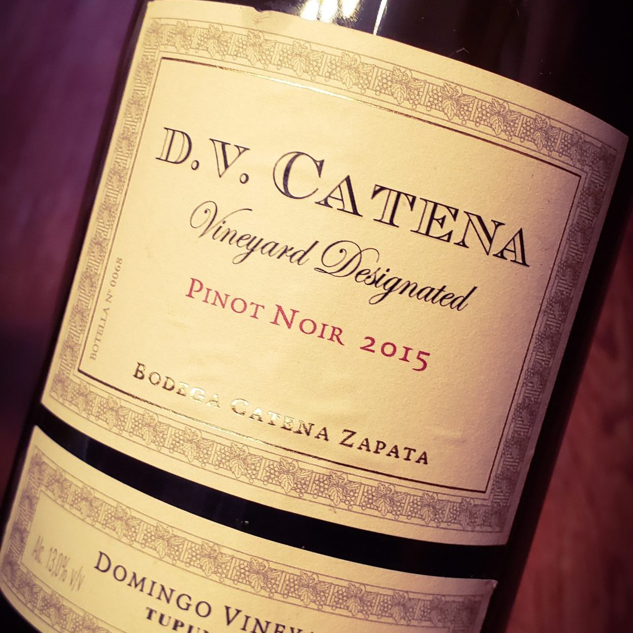 100 días - DV Catena Vineyard Designated Pinot Noir 2015