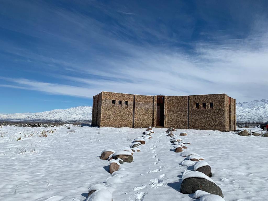 Nieve en los viñedos - Bodega Chateau Laura- Gualtallary Alto - Tupungato (Foto: Belén Iacono)