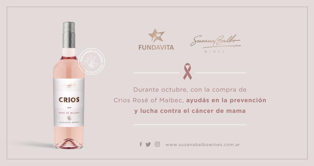 crios rosé de malbec 2019 fundavita