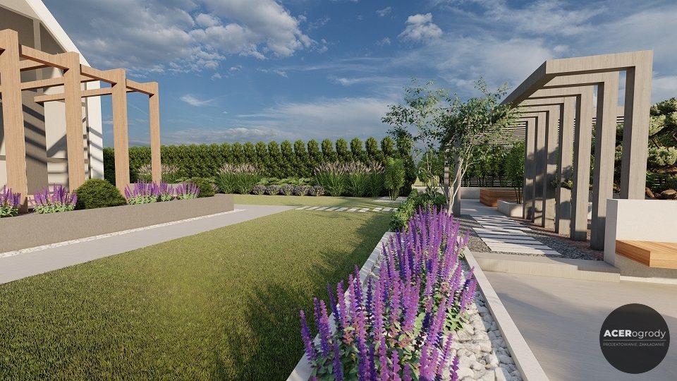 aranżacja nowoczesnego ogrodu