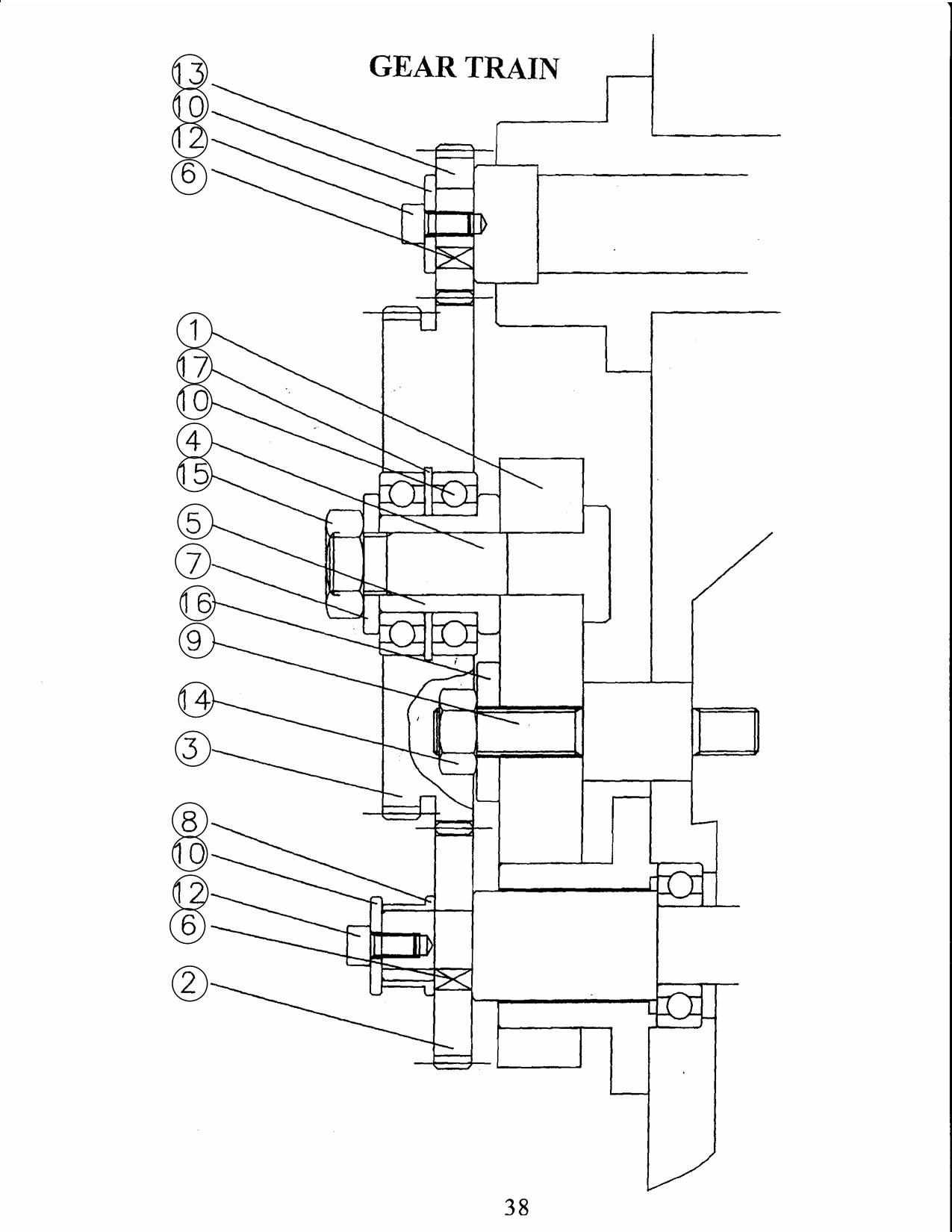 hight resolution of gear train diagram
