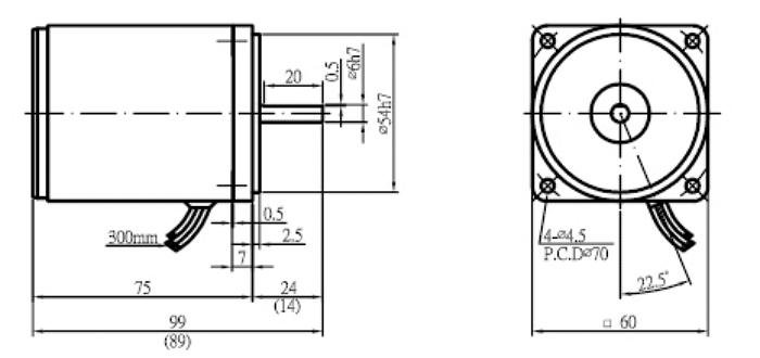 Sesame 2IK6GN-A Induction Motor Single Phase 110V 4P (50