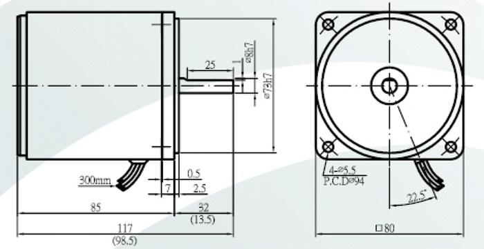 Sesame 4IK25GN-U Induction Motor Three Phase 440V 4P (50