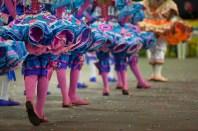 """A programação junina do """"Arraiá da Capitá 2015"""", que inclui concurso de quadrilhas, apresentações de boi-bumbá, grupos parafolclóricos e shows musicais.A expectativa da Fundação Cultural de Belém (Fumbel) é que o evento receba cerca de 200 mil pessoas na programação, que é diária e segue até o dia 28 de junho. Portal da Amazônia. Belém, Pará, Brasil. Foto Paulo Santos 23/06/2015"""