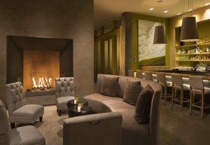 Healdsburg Hotel lobby fireplace