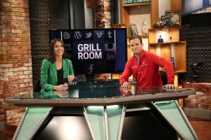 The Grill Room-- Season: 2014 -- Pictured: Bailey Moiser, Zach Johnson-- (Photo by: Jessica Danser/Golf Channel)