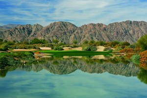 Water guards 18th hole in desert-style Norman course