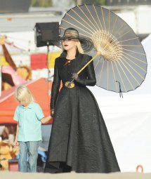 Lady Gaga Dress In Black Beach Carnival Scene