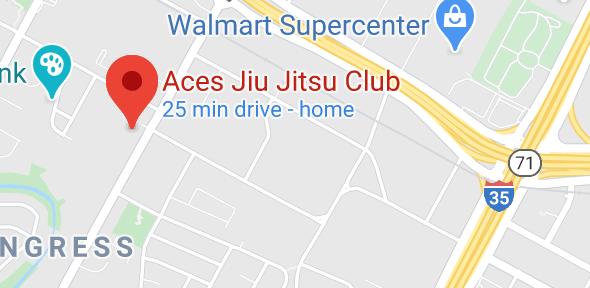 Aces Jiu Jitsu Club South Austin Texas Map Pic